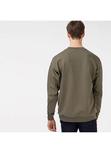 Lacoste Erkek Baskılı Sweatshirt SH0141.41H Yeşil